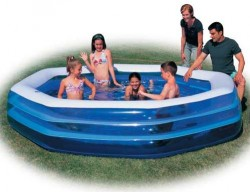 Бассейн Bestway Deluxe Octagon Family Pool надувной 305х305х58см 54023b