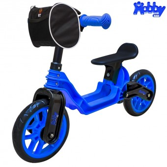 ОР503 Беговел Hobby bike Magestic blue black