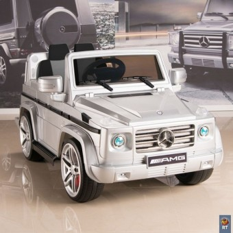 DMD-G55 Электромобиль Mercedes-Benz AMG Version 12V R/C silver с резиновыми колесами