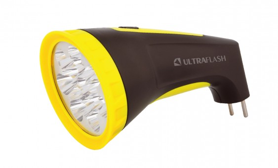 Фонарь Ultraflash LED3815M( аккум 220В, Чернжелтый, 15LED, 2 режима, SLA, пластик, коробка.)