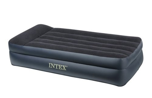 Кровать Intex Twin Pillow Rest Raised Airbed, флок, 191х99х42см, синий