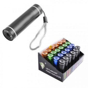 Фонарь LED Flashlight, алюм.,, на шнурке, пит. 3*AAA,   (B11)