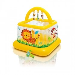 Надувной манеж Intex 48473 Soft-Sides Lil'Baby Gym 117x117x117см