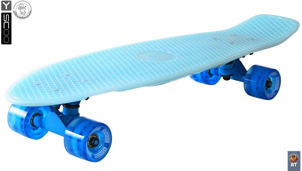 "402E-B Скейтборд Y-Scoo Big Fishskateboard Glow 27"" винил 68,6х19 с сумкой Blue/blue"